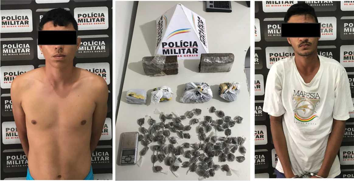 POLÍCIA MILITAR PRENDE TRAFICANTES E DROGAS NO CONJUNTO CIDADE NOVA
