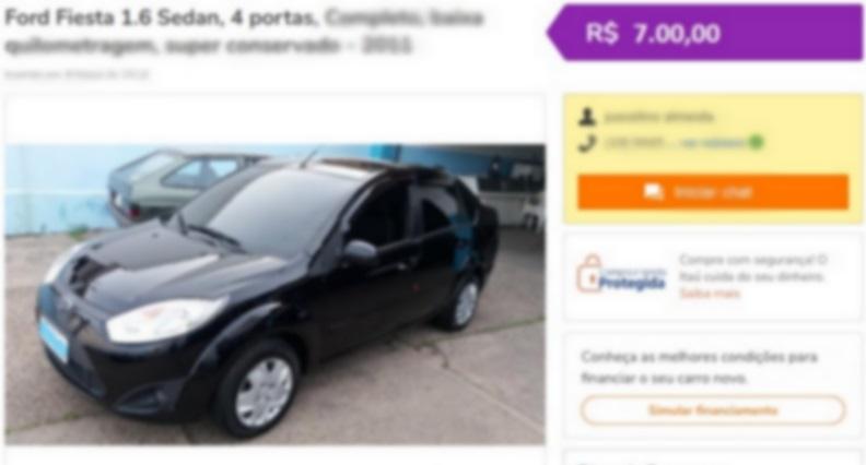 POLÍCIA CIVIL ALERTA PARA GOLPE DE VENDA DE CARRO EM SITES DE COMPRA E VENDA