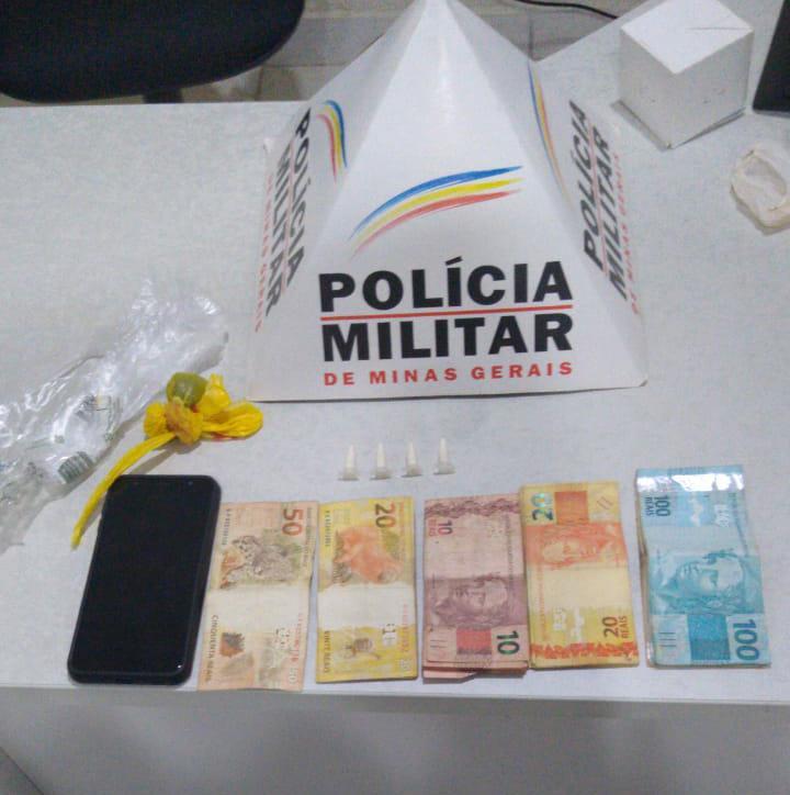 POLÍCIA MILITAR PRENDE TRAFICANTE EM GOIABEIRA