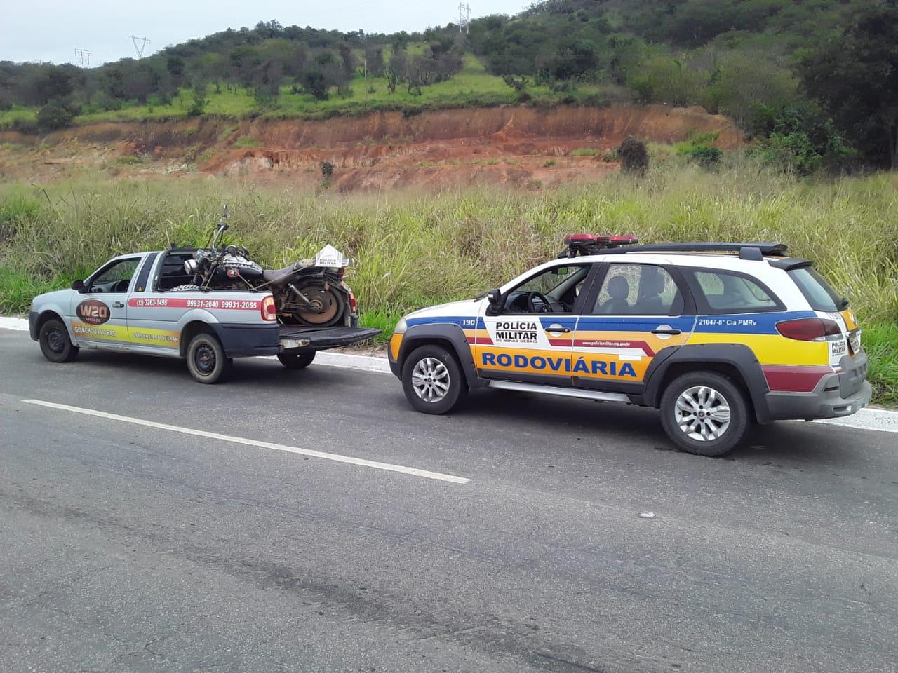 POLÍCIA MILITAR RODOVIÁRIA APREENDE MOTOCICLETA COM PLACA ADULTERADA NA BR 259
