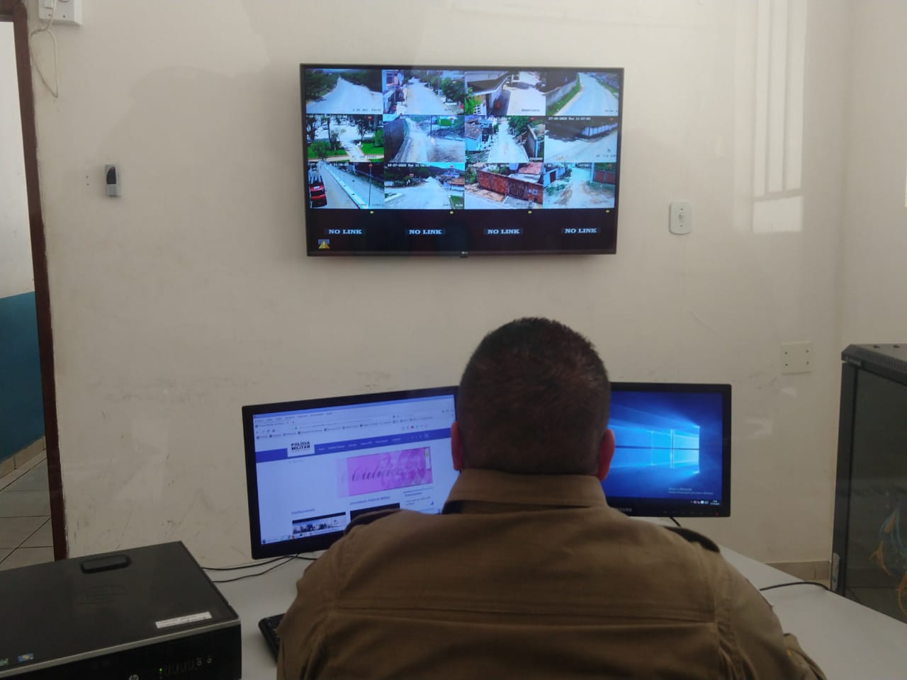 POLICIA MILITAR E CONSELHO DE SEGURANÇA PUBLICA DE GALILEIA AMPLIA SISTEMA OLHO VIVO PARA 12 CAMERAS DE VIDEOMONITORAMENTO