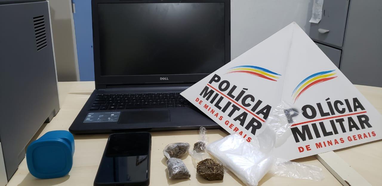 POLÍCIA MILITAR PRENDE CASAL DE TRAFICANTES NO BAIRRO SÃO LUIZ