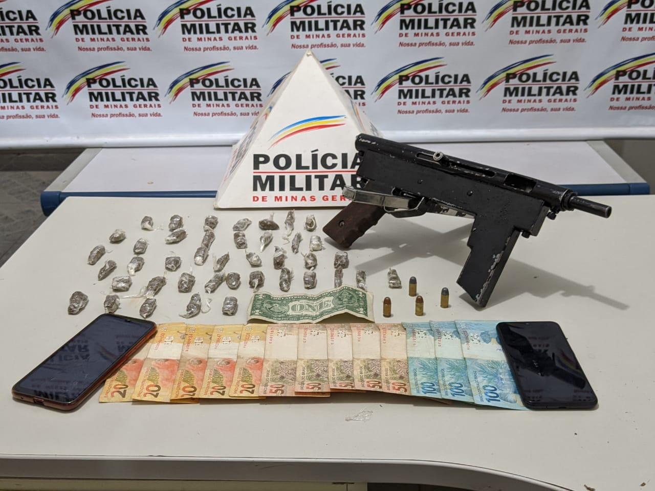 POLÍCIA MILITAR PRENDE TRAFICANTES E UMA SUBMETRALHADORA EM RESPLENDOR