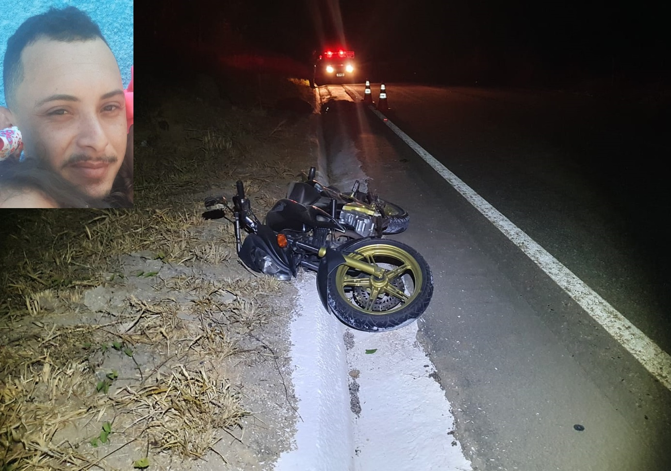 MOTOCICLISTA PERDE O CONTROLE CAPOTA E MORRE NA BR 259
